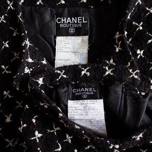 CHANEL Jackets & Coats - Rare Chanel Vintage 1983 Karl Black Jacket Suit